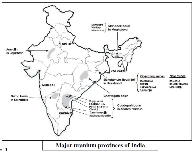 Uranium deposits in india